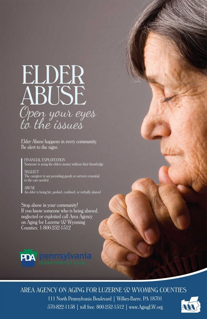 Area Agency on Aging Elder Abuse Poster by Rooster Creative