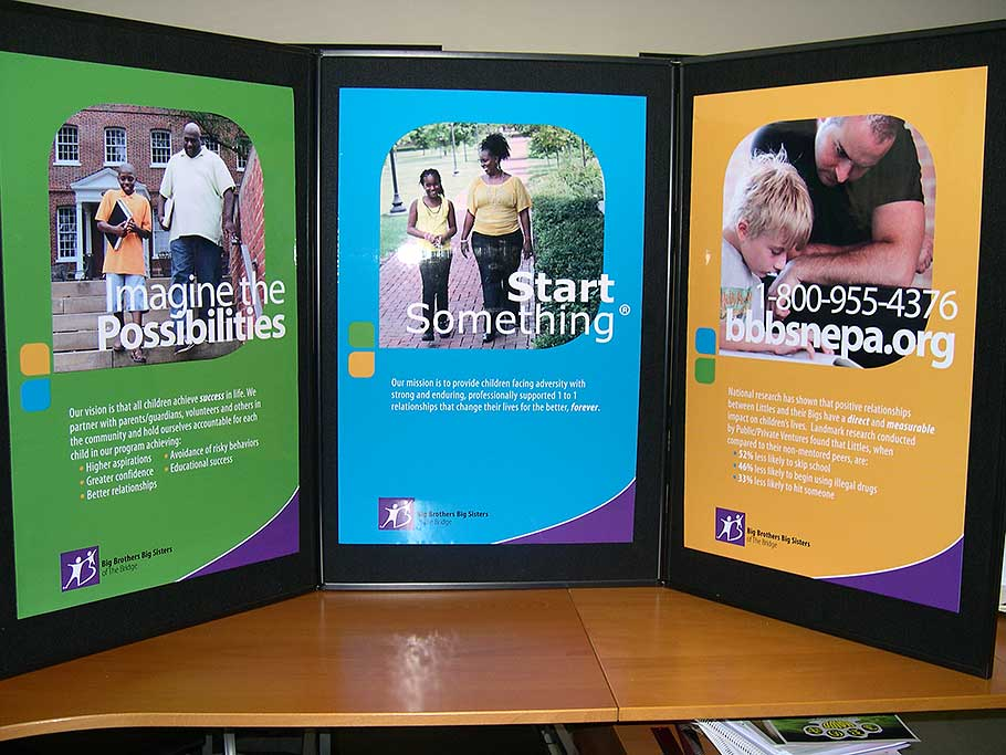 Big Brothers Big Sisters Trade Show Booth Display by Rooster Creative