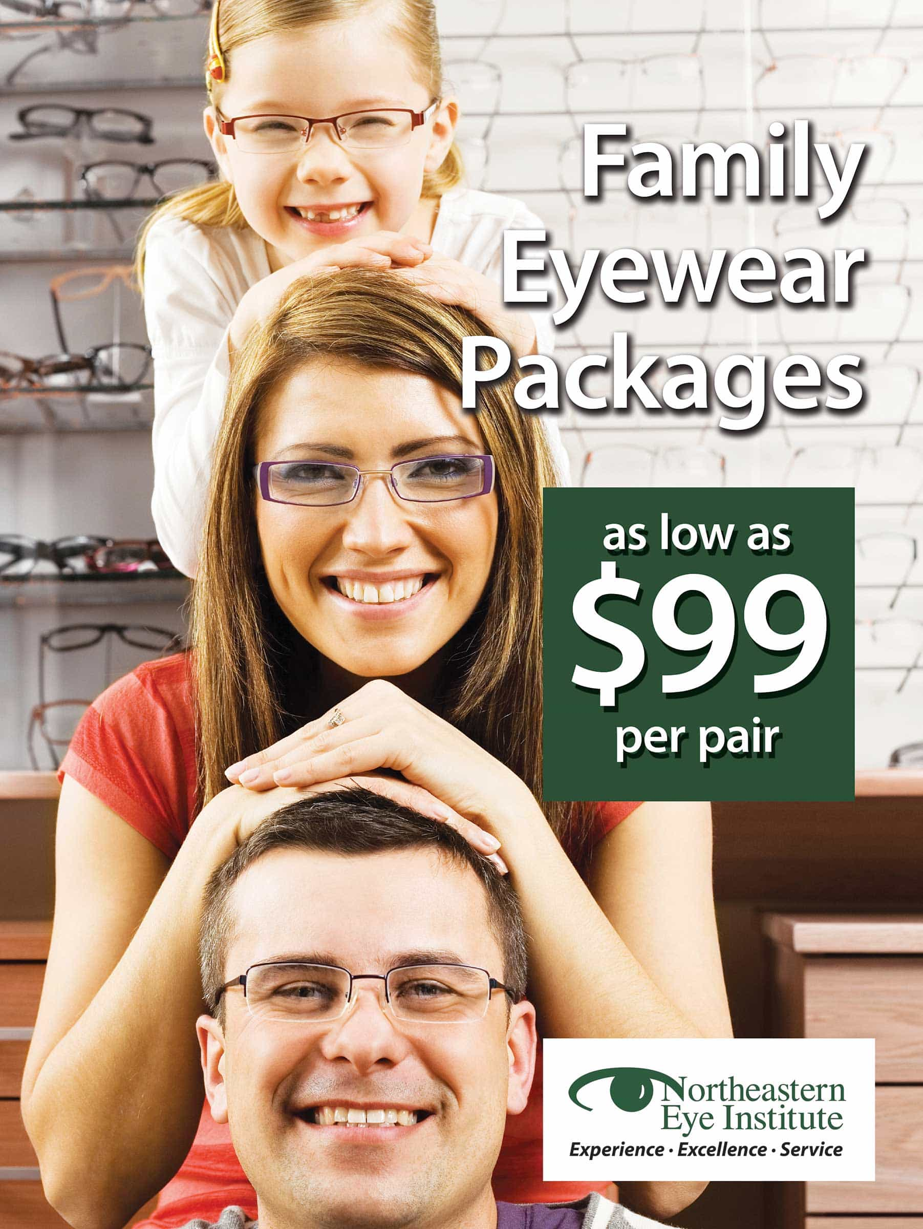 Northeast Eye Institute Family Poster by Rooster Creative