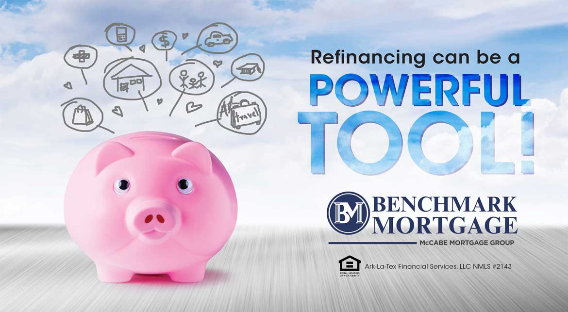 Benchmark Mortgage Refinance Post Card by Rooster Creative Front