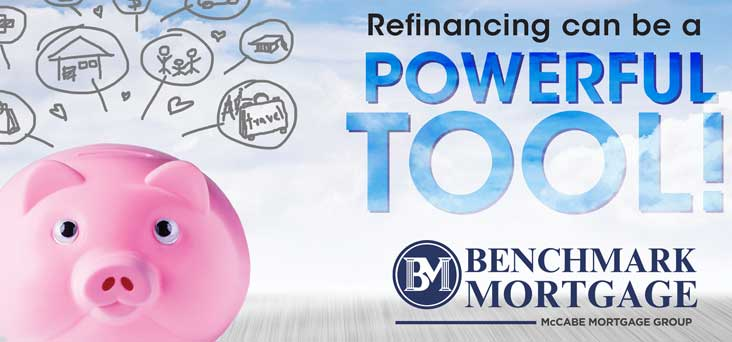 Benchmark Mortgage Refinance Post Card by Rooster Creative Thumbnail