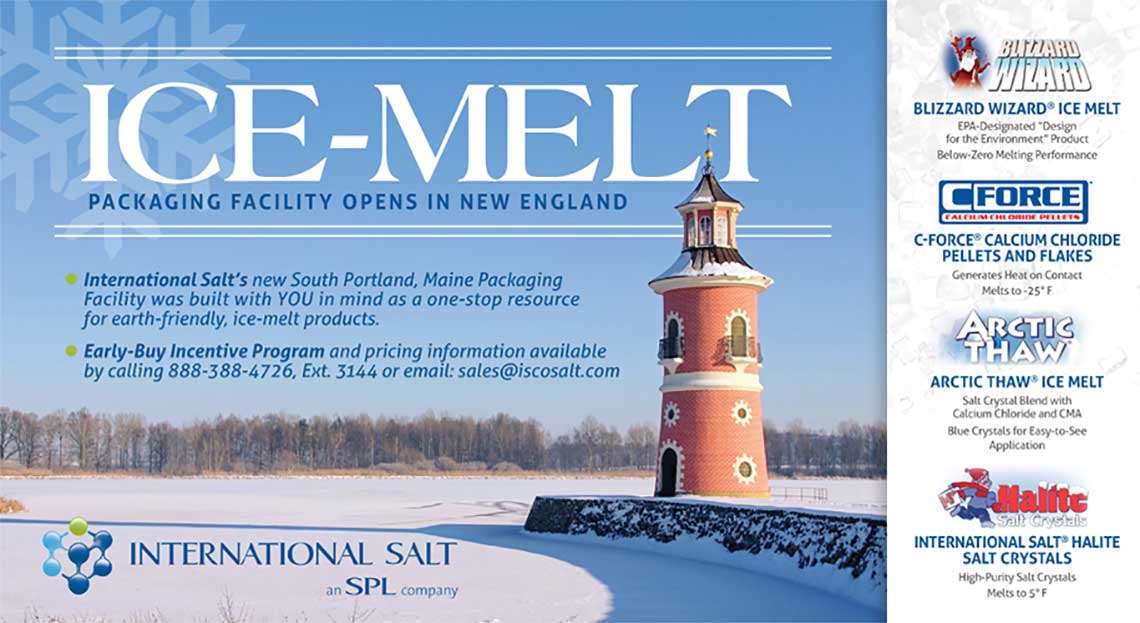 International Salt Ice Melt Post Card by Rooster Creative Front