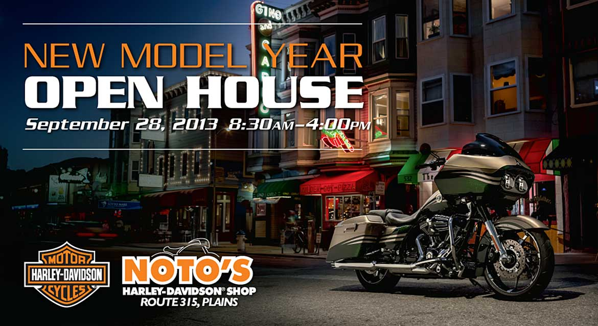NOTO Harley Davidson New Model Year Post Card Front by Rooster Creative