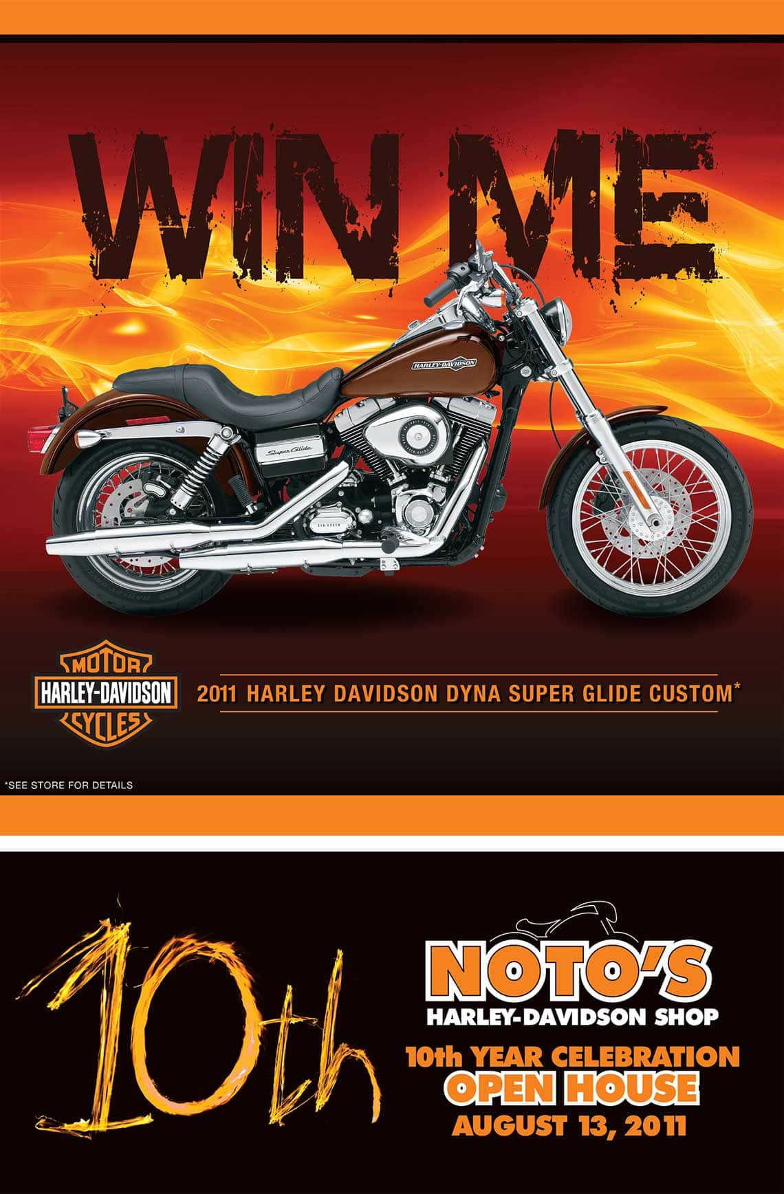 NOTO Harley Davidson Shop Poster by Rooster Creative