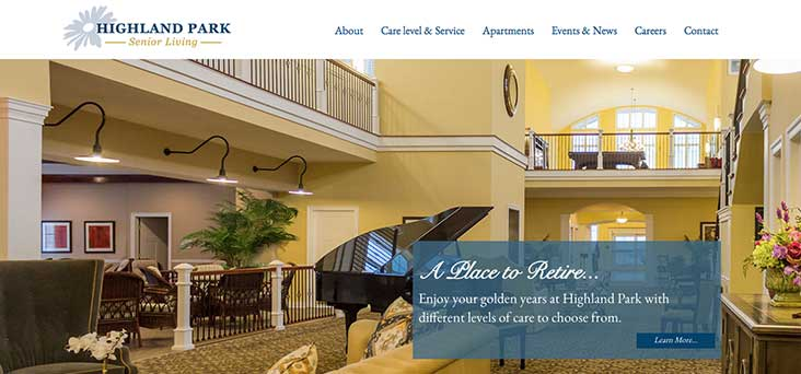 Highland Park Senior Living Website by Rooster Creative Thumb
