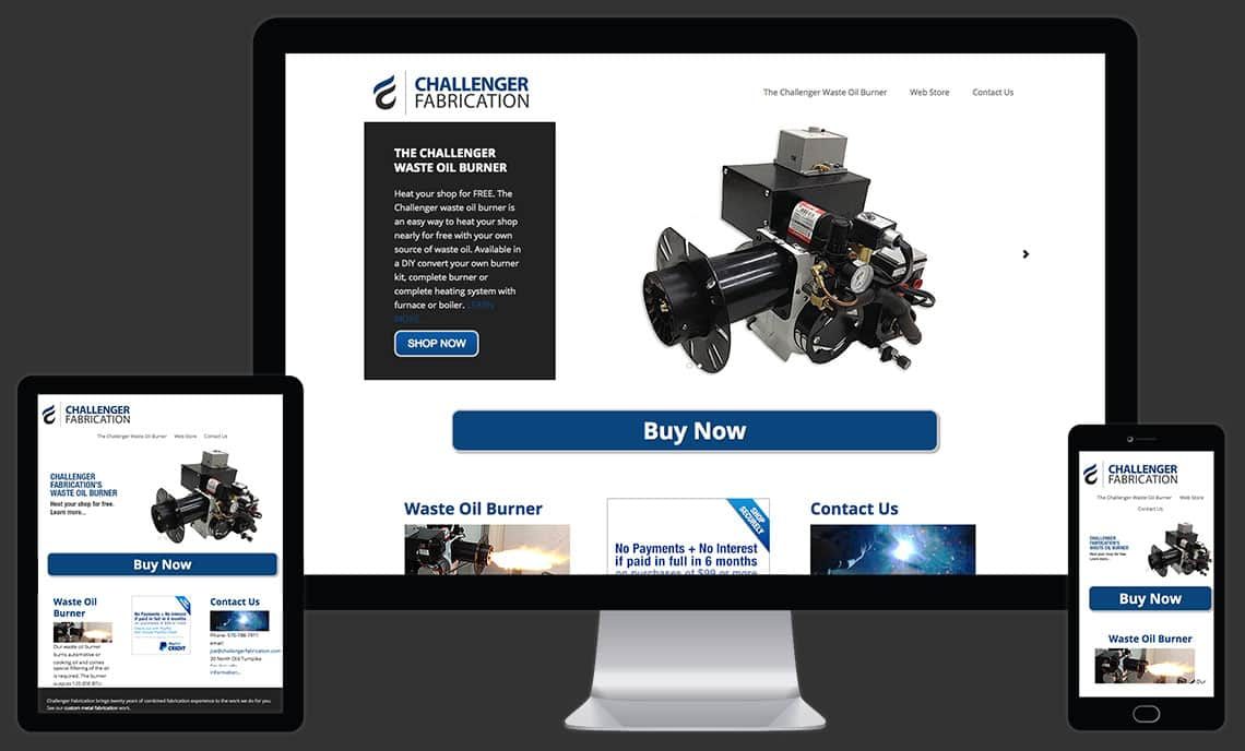 Challenger Fabrication Website by Rooster Creative Views