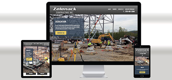 Zelenack Contracting Website by Rooster Creative Views